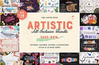CreativeMarket - Artistic All-Inclusive Bundle