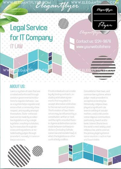 Legal Service V11 Flyer PSD Template + Facebook Cover