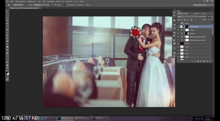 Новые приемы в обработке свадебного фото (2017) HDRip