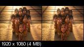 Моана 3D / Moana 3D Горизонтальная анаморфная стереопара