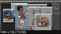 Дизайн в фотошоп. Создание персонажей (2017)