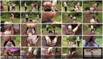 Scat Porn (MilanaSmelly) Born to devour female shit [HD 720p] Femdom, Outdoor, Group