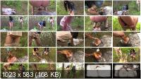 Humiliation Scat: (MilanaSmelly) - Free toilet for girls in the forest [HD 720p] - Femdom, Outdoor